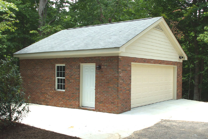 Brick detached garage images for Custom 2 car garage